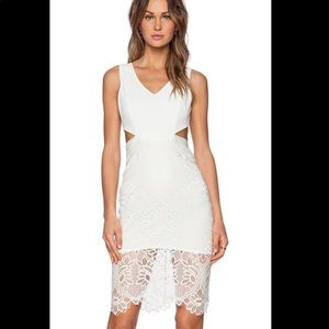 Lovers + Friends Spellbound Midi Dress Ivory Lace